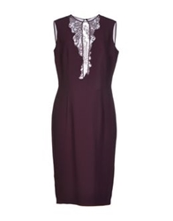 Gai Mattiolo Couture Knee Length Dresses Deep Purple