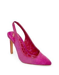 Brian Atwood B Maya Suede Pumps Pink