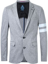 Guild Prime Stripe Detail Blazer Grey