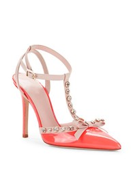Kate Spade Lydia Patent Leather T Strap Pumps Red