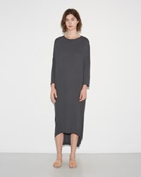 Black Crane Pleated Cocoon Dress Dark Shadow