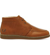 Fred Perry Southall Leather Desert Boots Tan