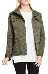 Vince Camuto Women's Two By Stretch Sateen Cargo Jacket Olive Earth
