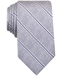 Perry Ellis Men's Kelly Striped Classic Tie Charcoal