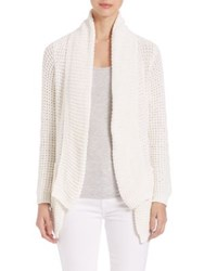 Saks Fifth Avenue Manon Waffle Open Cardigan Sugar Olive