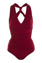 Wal G Ruched V Neck Body By Red