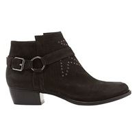 Mint Velvet Polly Cross Strapped Ankle Boots Black Suede