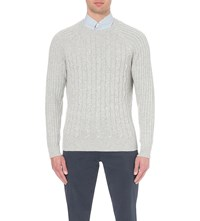 Brunello Cucinelli Cable Knit Cashmere Knitted Jumper Pearl