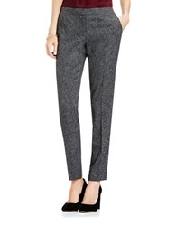 Vince Camuto Tweed Skinny Ankle Length Pants Medium Heather Grey
