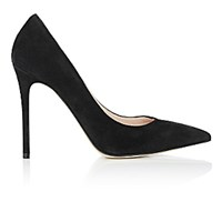 Barneys New York Women's Pointed Toe Pumps Black Blue Black Blue