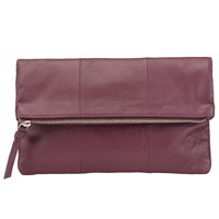 Pieces Pennie Leather Clutch Bag Fig