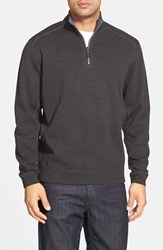 Tommy Bahama Men's 'Flip Side' Reversible Quarter Zip Twill Pullover Coastline Heather