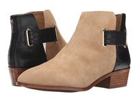 Yosi Samra Drew Suede Boot With 3D Croco Detail Latte Black Women's Boots Tan