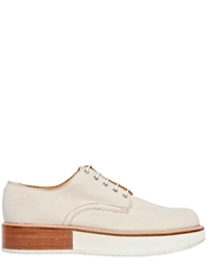 Mobi 30Mm Canvas Lace Up Shoes Natural