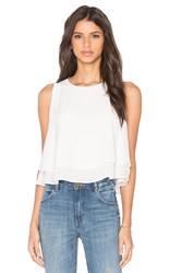 Bishop Young Double Layer Tank White
