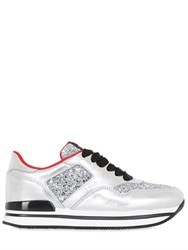 Hogan 50Mm H222 Glittered Leather Sneakers