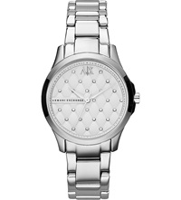 Armani Exchange Ax5208 Crystal Detailed Watch Silver