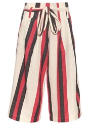 Ace And Jig Baltic Striped Cotton Culottes Red White