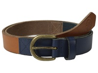Scotch And Soda Two Tone Leather Belt Blue Brown Men's Belts