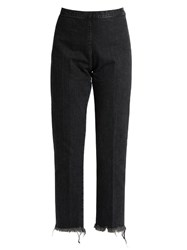 Rachel Comey Fletcher High Rise Slim Leg Cropped Jeans Black Multi