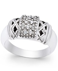 Macy's Diamond Statement Ring 1 10 Ct. T.W. In Sterling Silver