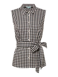 Dickins And Jones Gingham Shirt With Tie Check