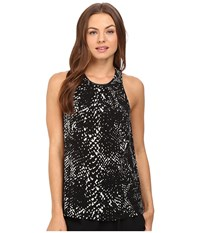 Tart Jewel Top Abstract Python Women's Clothing Black
