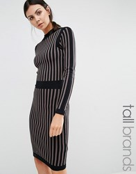 Y.A.S Tall Stripe Knitted Pencil Dress Multi