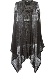 Lost And Found Ria Dunn Waterfall Vest Black