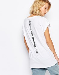 Carhartt Cade Rhymes T Shirt White
