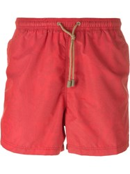 Etro Paisley Print Swim Shorts Red