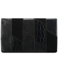 Nine West Patchwork Foldover Clutch Black