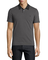 Penguin Micro Stripe Polo Shirt True Black