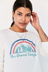 Truly Madly Deeply Grand Canyon Long Sleeve Thermal Tee Ivory