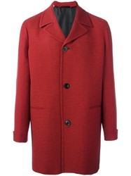 Paul Smith Houndstooth Coat Red
