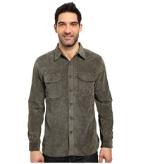 Royal Robbins Grid Cord Long Sleeve Shirt Loden Men's Long Sleeve Button Up Green
