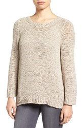 Eileen Fisher Women's Rustic Open Stitch Crewneck Sweater