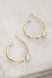 Anthropologie Adelasia Hoops Mint
