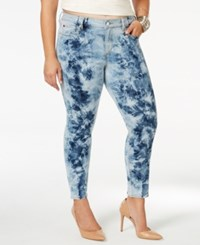 Slink Jeans Plus Size Tie Dyed Ankle Jeggings Electric Tie Dye