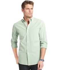 Izod Long Sleeve Checkered Essential Shirt Seacrest