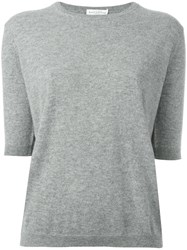 Ballantyne Short Sleeve Jumper Grey