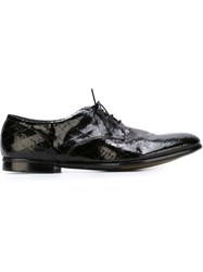 Premiata Geometric Pattern Derby Shoes Black