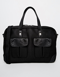 Asos Mesh Briefcase Satchel In Black