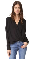 Vince Wrap Blouse Black