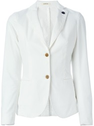 Lardini Two Button Blazer White