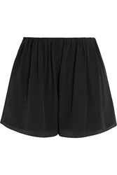 Elizabeth And James Jackie Silk Chiffon Shorts Black