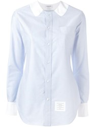 Thom Browne Collar Detail Shirt Blue