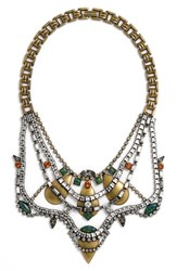 Lionette By Noa Sade Women's 'Shemesh' Simulated Opal And Swarovski Crystal Statement Necklace