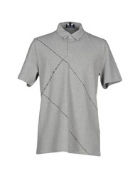 Emporio Armani Topwear Polo Shirts Men Light Grey