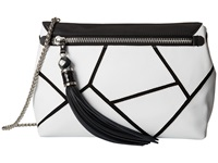 Rafe New York Eva Clutch Crossbody Chalk Combo Cross Body Handbags White